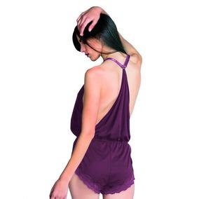 Sexy Pijama Short Jumpsuit Encaje