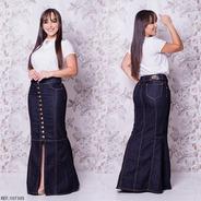Saia Jeans Longa Frt - Ref 123