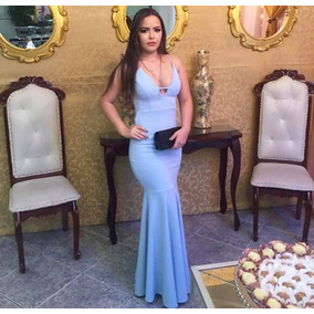 c27b73c63 Vestidos Para Madrinha Azul Bebe - Vestidos De Festa Longos ...