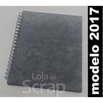 Caderno Pautado E Planejamento 21x27 Luxo Emborrachada Cinza