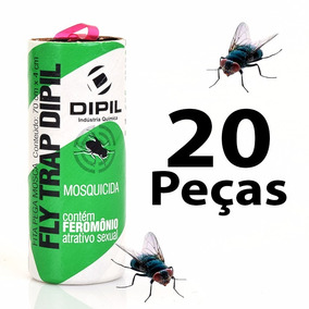 Fita Pega Mosca - Armadilha De Cola P/ Insetos Voadores 20pc