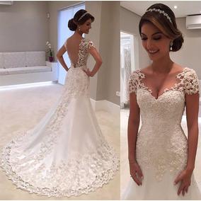 Vestido De Noiva Sereia Rendado