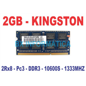 Memória 2gb 10600s Kingston Ddr3 Notebook 1333mhz Pc3