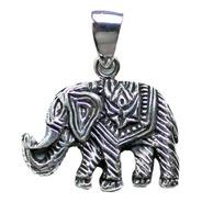 Pingente Elefante Da Sorte Em Prata 925 De Bali
