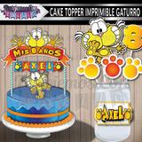 Cake Topper Adorno Torta Centro De Mesa Imprimible Gaturro