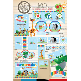 Kit Imprimible Baby Tv Channel Bugs Band Candy Bar Deco!