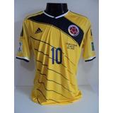 Camisa Colombia Home 14-15 James 10 Vs Uruguai Copa 2014 Imp