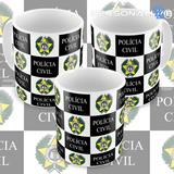 Caneca Porcelana Polícia Civil Do Rio De Janeiro Pc-rj