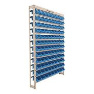 Kit Estante Gaveteiro Com 108 Gavetas Nº3 Cor Azul