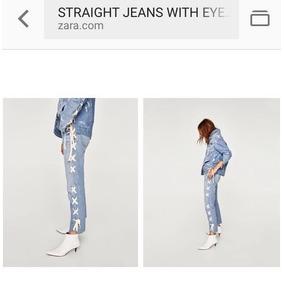 Jean Mujer Nuevo Zara Importado De Inglaterra Con Cintas