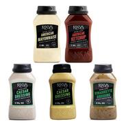 Salsas Kansas Pack Mayonesa Ketchup Mostaza Vinagreta Cesar