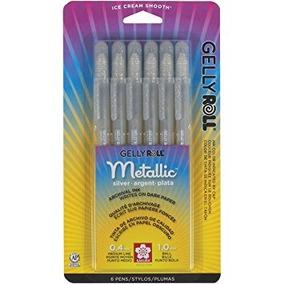 Sakura 57384 6-piece Gelly Roll Metallic Gel Pen Set Bold Si