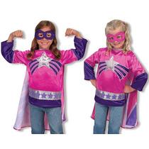 Melissa & Doug Disfraz Super Heroina 3-6 Años Niña