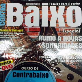 Video Aula Contrabaixo 5 Cordas Revista + Dvd Frete Grátis