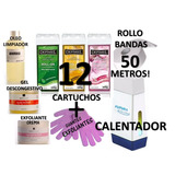 Kit Calentador Roll-on Arcametal+ 12 Cartuchos Depimiel+ Kit