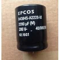 Capacitor 2200x200 2.200uf 200v Epcos Envio Minimo 4 Pcs.