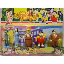 Coleção Mini Bonecos 05 Personagem Turma Do Chaves Animados