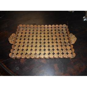 Raridade Bandeja C/ 167 Moedas Em Bronze De 50 Cruzeiros