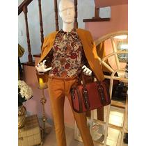 Pantalones De Vestir Mostaza, Beige Y Color Ladrillo