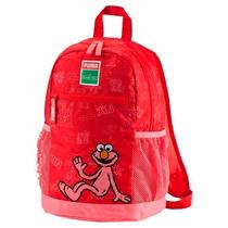 Mochila Infantil Elmo Plaza Sesamo Para Niña 02 Puma 074118