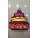 Cojines Forma Torta De Feliz Cumpleaños Hipoalergenico