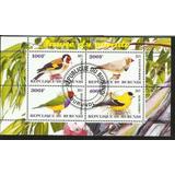 Bloque 4 Estampillas Temática Fauna Aves- Pajaros