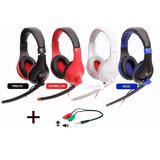 Fone Ouvido Headset Gamer P2/p3 Pc Jogo Chat Celular Musica