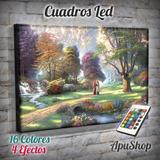 Cuadros 75x50 Luminosos Led Pintura Surrealismo Arte Paisaje