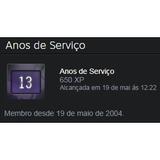 Steam 13 Anos + Medalha De 5 Anos De Serviço