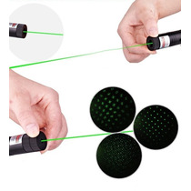 Caneta Laser Portatil Point Laser Verde + Ponta Para Efeitos