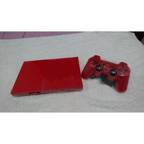 Playstation 2 Vermelho 1 Controle Desbloqueado