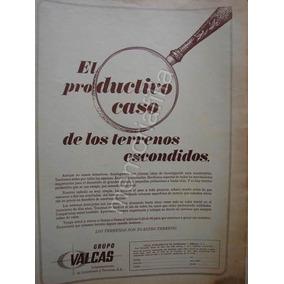 Publicidad Antigua Grupo Valcas Bienes Raices Años 60s Qqx