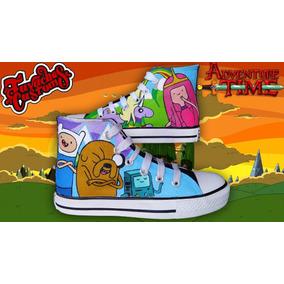 Tenis Pintado A Mano Hora De Aventura Adventure Time
