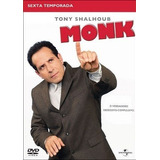 Box Dvd - Monk 6ª Temporada - Original Lacrado - 4 Discos
