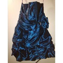Vestido Azul Eléctrico Tipo Corset Para Dama