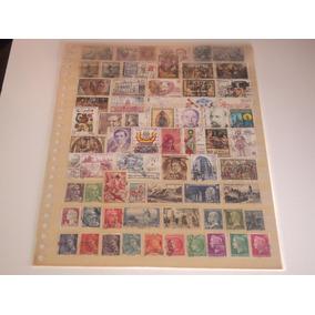 Selos Postais Antigos - Lote Com 105 Selos Da Espanha