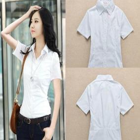 Blusa Feminina Camisas Das Mulheres Blusa Branca Escritorio