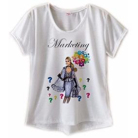 Blusa Feminina Profissões Cursos Nutrição T Shirts Elastano 31bc305c1eb64