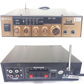 Amplificador Receiver Usb Bluetooth Sd Radio Fm Som Ambiente