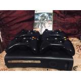 Xbox 360 Elite 120gb Usado + Chip Lt3+ 17 Juegos + 1 Control