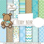 Kit Imprimible Pack Fondos Osito Teddy Niño Clipart
