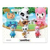 Kit 3 Figuras Amiibo Serie Animal Crossing Nintendo Wii U