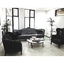 Sala Tipo Victoriana Talla Mexicana 100% Caoba