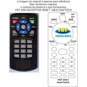 Controle P/ Receptor Isdb-t 1seg Faaftech Fbt 2063