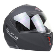 Casco Abatible Para Moto Roda Revenge Negro Mate