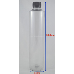 100 Pz Botella Para Agua Jugos Envase Plastico Pet 500m Tapa