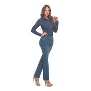Jean Plus Size Cromo Jeans Tiro Alto Bota Recta