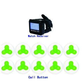 Relógio Chama Garçom + 10 Chamadores 3 Botões Vibra, Toca