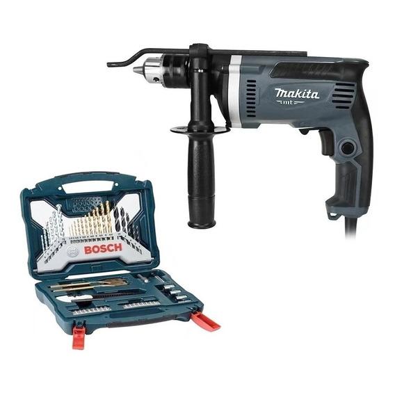 Taladro Percutor Makita Tm8100g + Set 50 Acc Bosch X Line