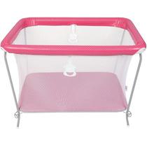 Berço Portátil Bebê Rosa Chiqueirinho Cercado Tutti Baby